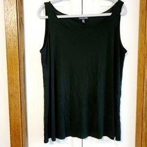 Eileen Fisher silk black shell